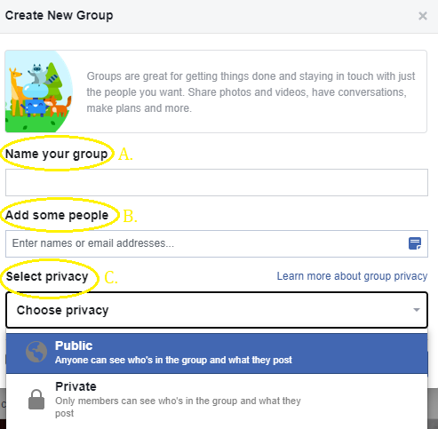 public facebook group