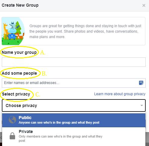 public facebook group