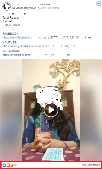 Live Video Feature on FB Group