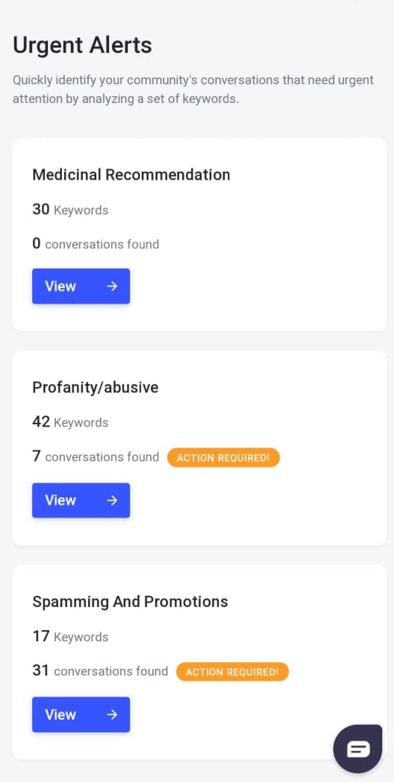 Fb keywords alert for spam