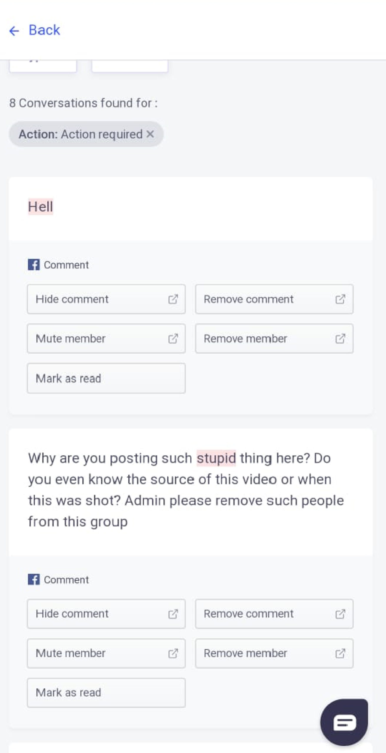 How to remove spam from gb group