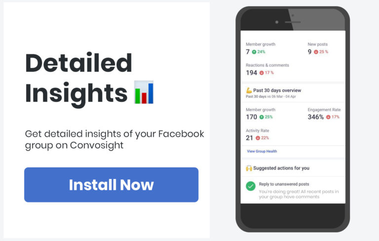 Facebook Group Detailed Insight and Metrics