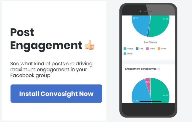 Facebook group analytics and insights
