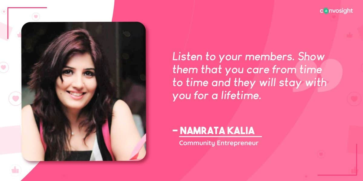 Namrata Kalia - Success Story