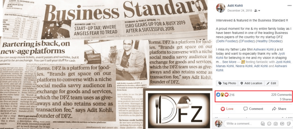 Business Standard Feature