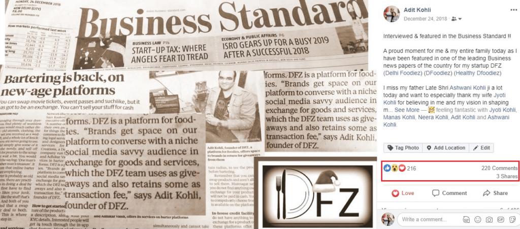 Business Standard Feature