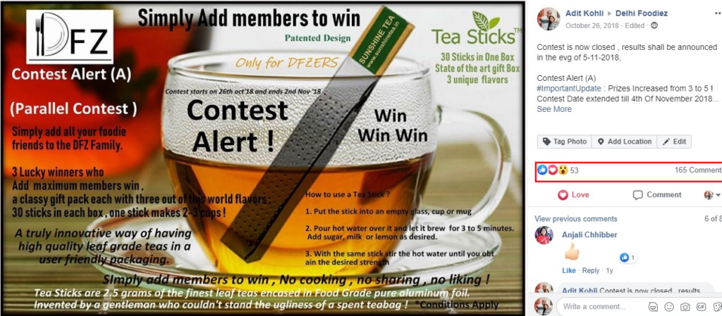 contest to add members