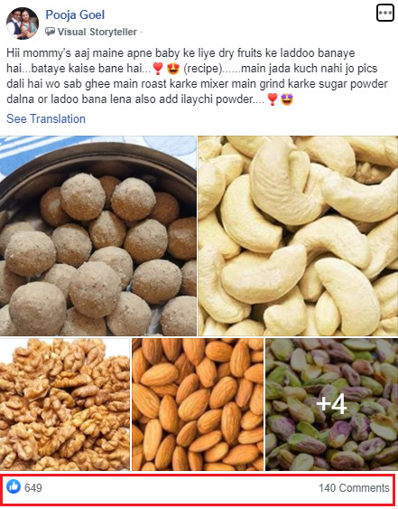 dry fruits in group