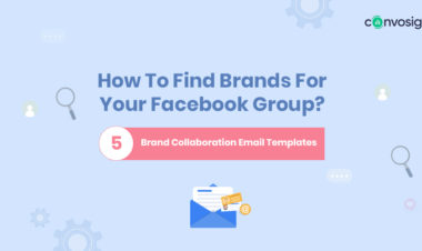 how to find brands for Facebook group, brand collaboration email samples