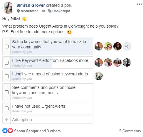 urgent alerts poll