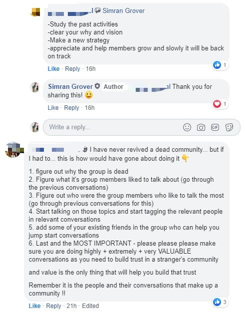 revive a dead group poll comments