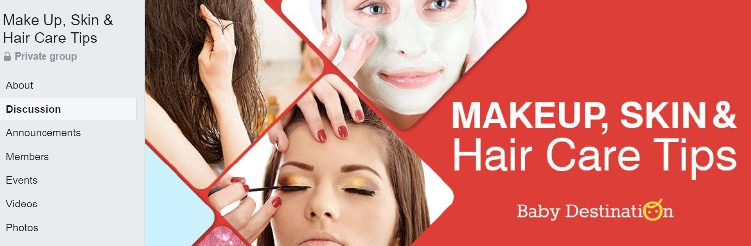 Facebook Group Cover Photo for Beauty Groups