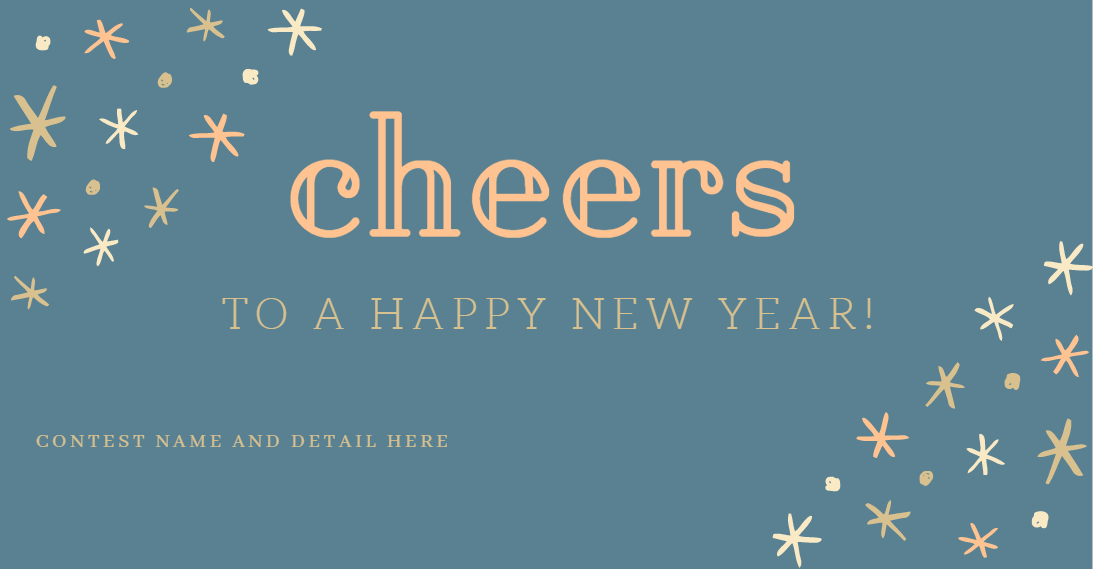 Facebook cover template for New Year Free