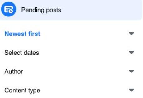 categorisation in pending posts