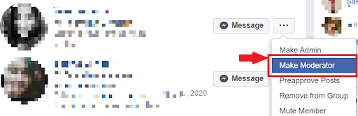How to make someone Moderator in facebook group