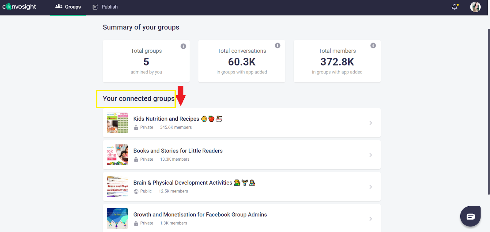 manage multiple groups