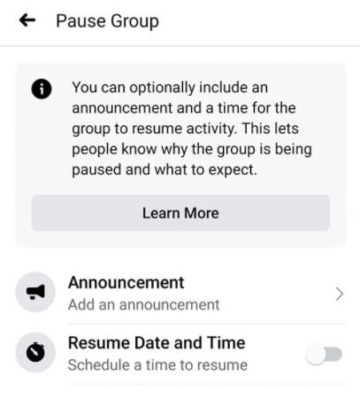 pause group 1