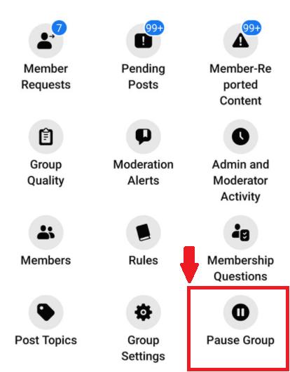 pause group Nea Feature of Facebook Group December 2020