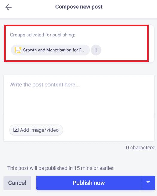 schedule post to avoid facebook jail