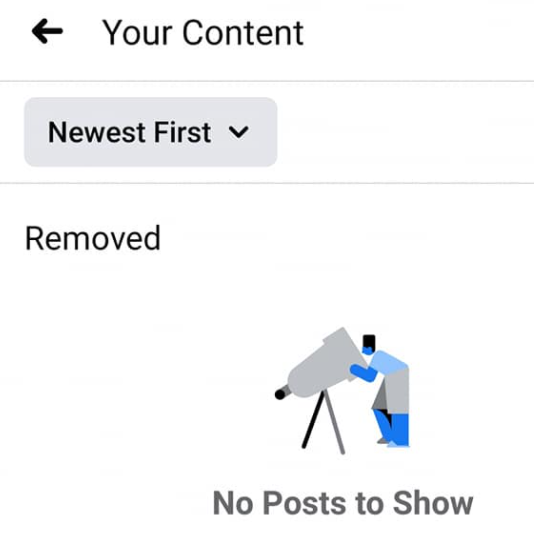 your content feature in fb group
