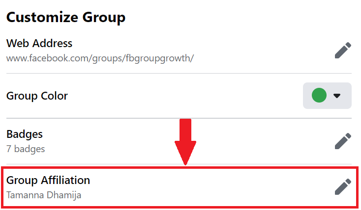 Group Affiliation Posts