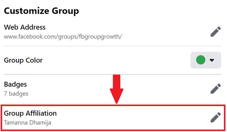 Group Affiliation Posts