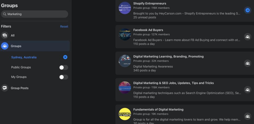 marketing-facebook-group-australia