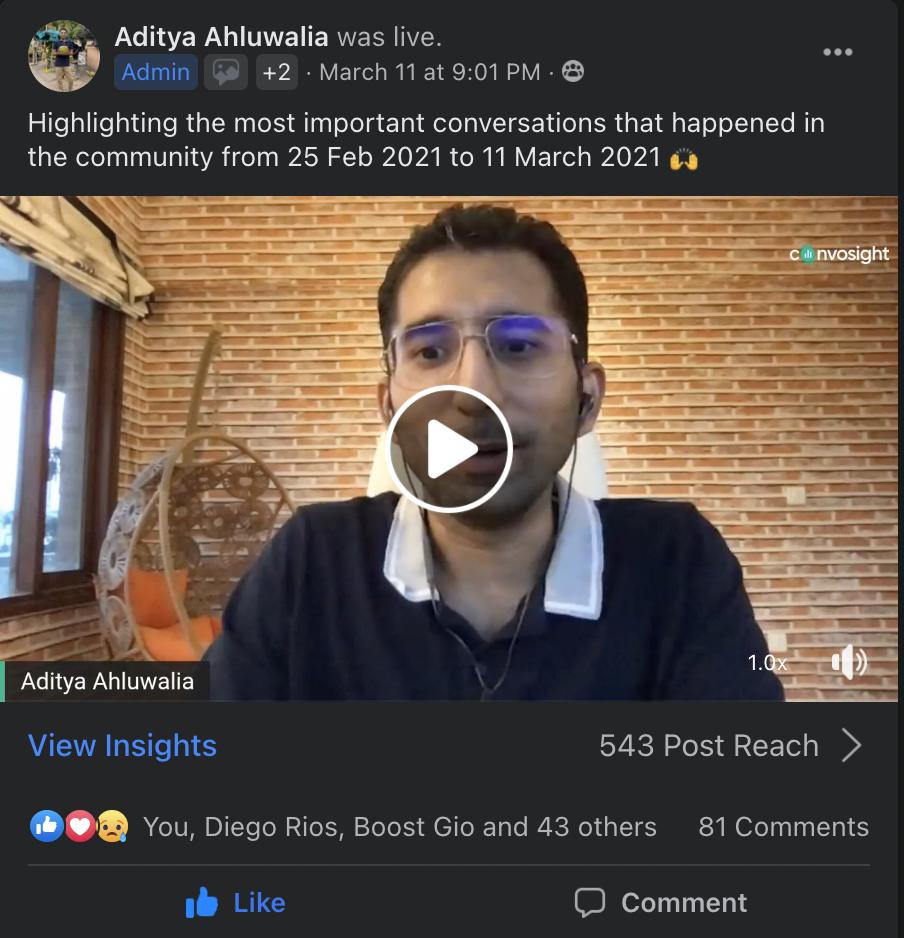 Aditya-Head-of-Growth-Convosight-Facebook-Live