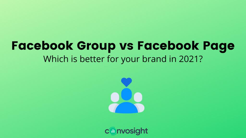 Facebook Group vs Facebook Page