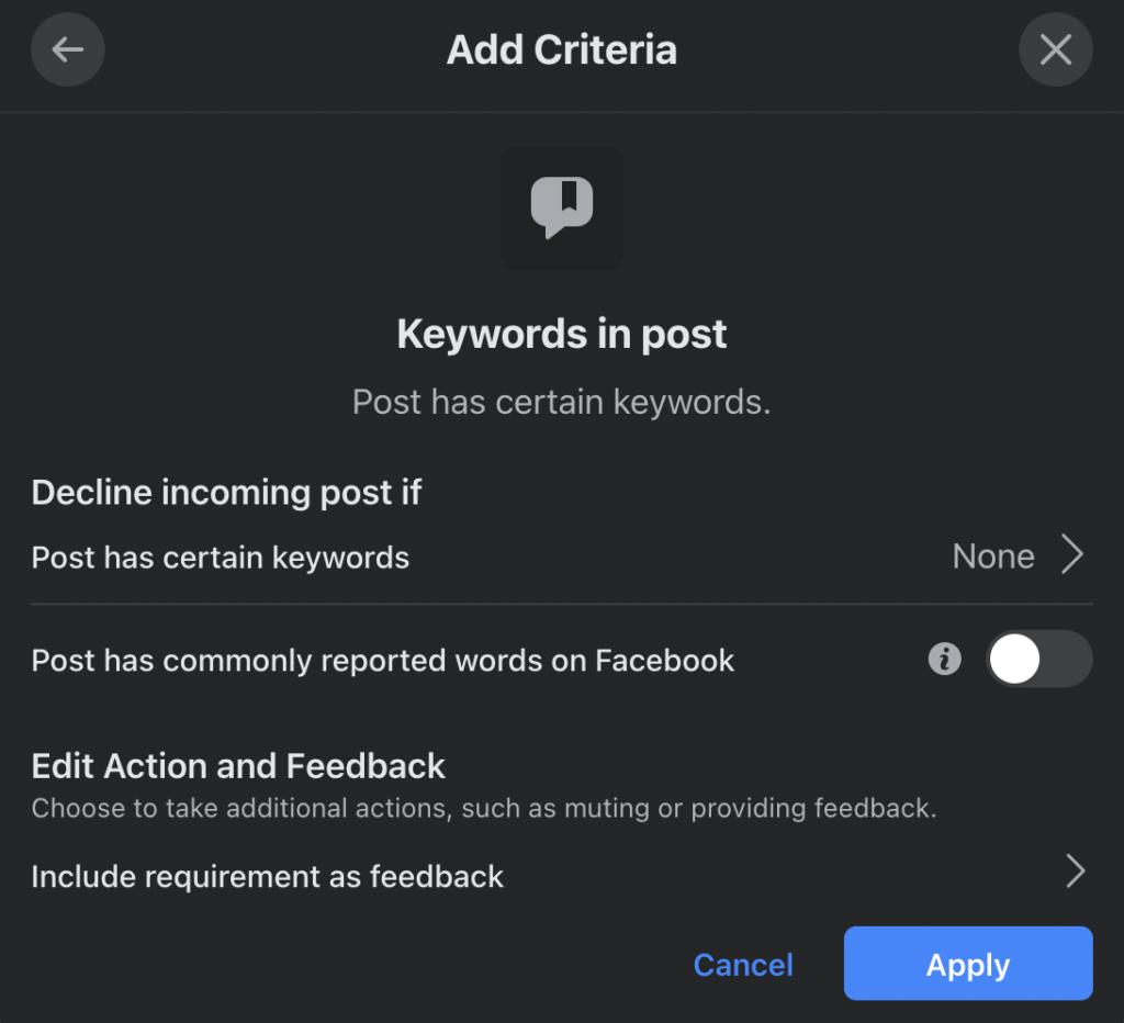 Keyword-in-post