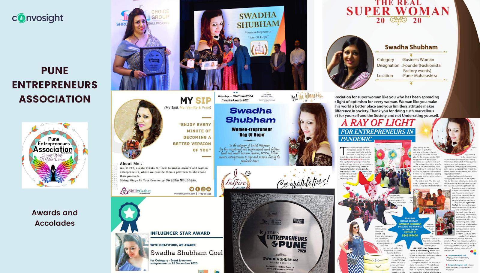 Swadha Shubham Goel- Awards and Accolades