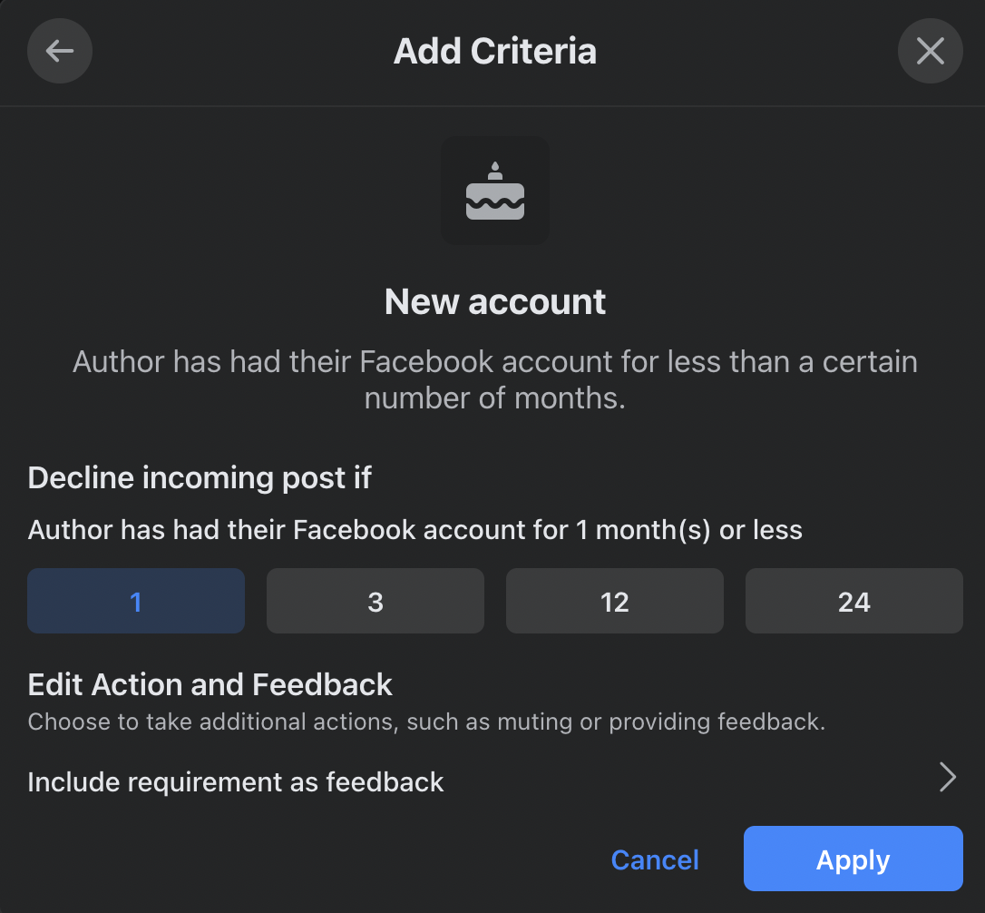 Criteria for Declining Posts