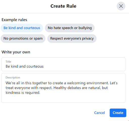 Create Rule for Group