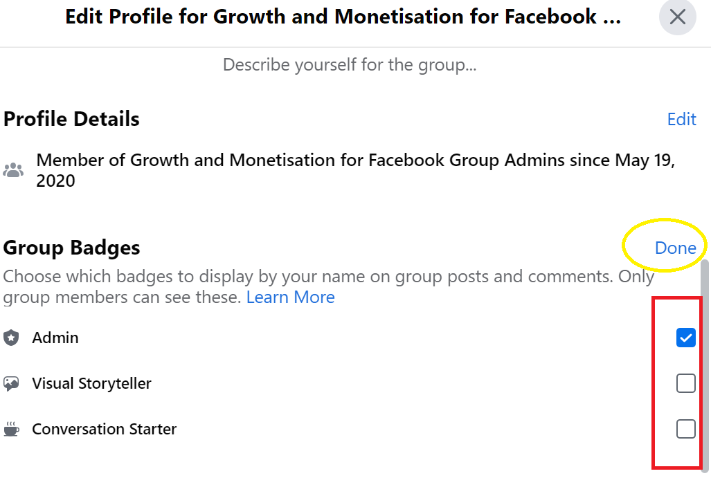 how to see your badges on facebook