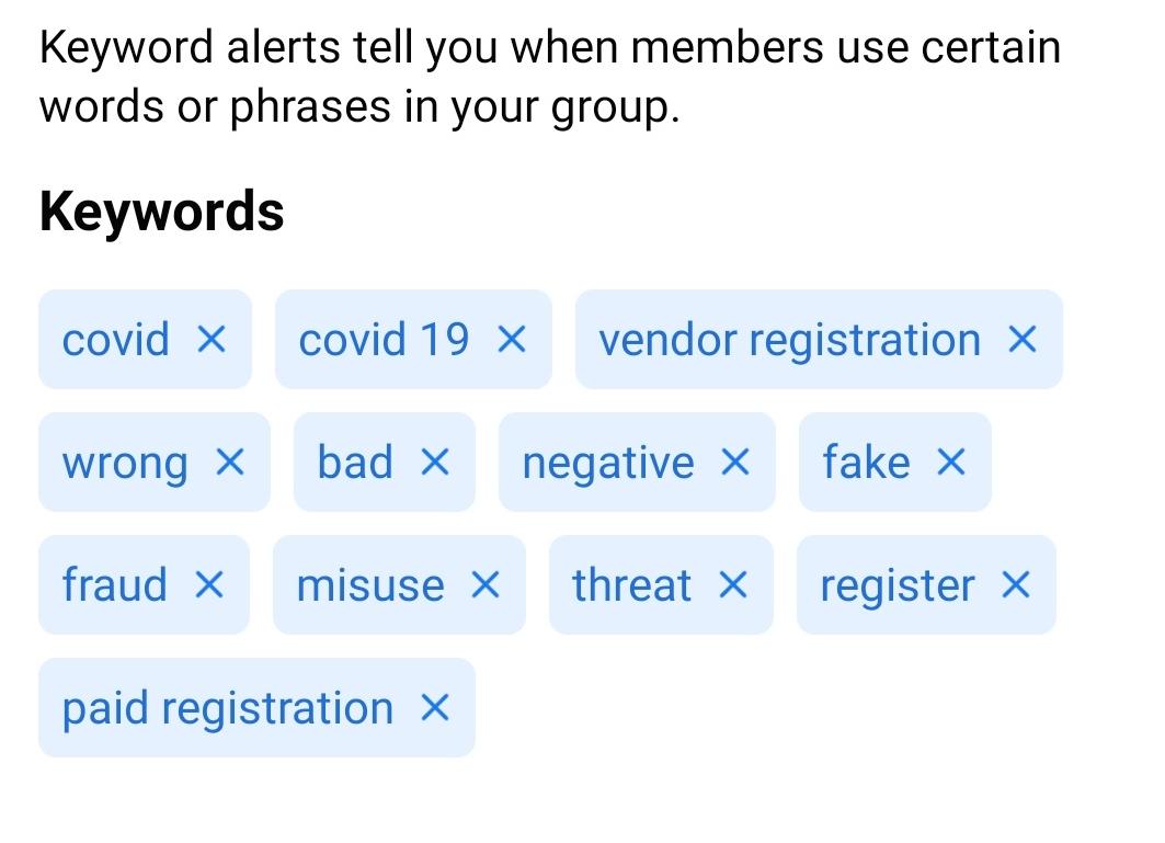 moderation alerts PEA