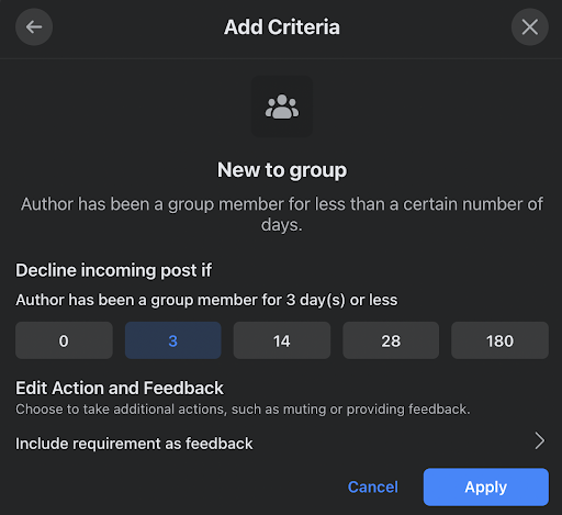 NEW TO GROUP FEATURE IN FACEBOOK ADMIN ASSIST