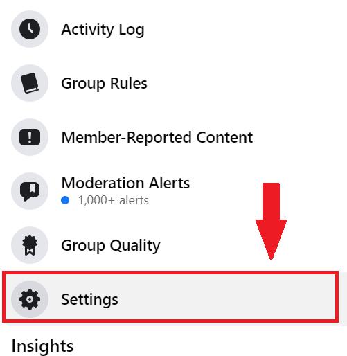 select group settings