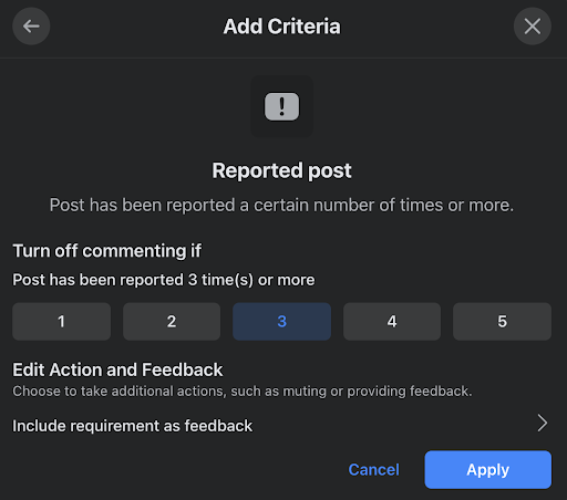 Reported Post Function in Admin Assist