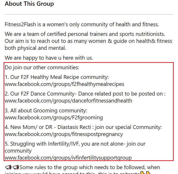 FB group description example