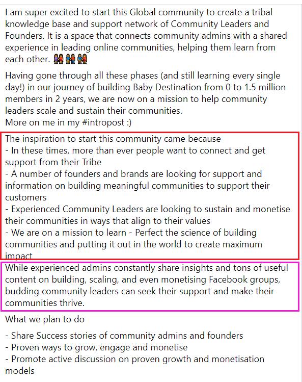 How to write a Facebook Group description?