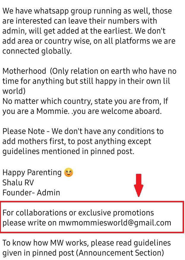 mommies world group description
