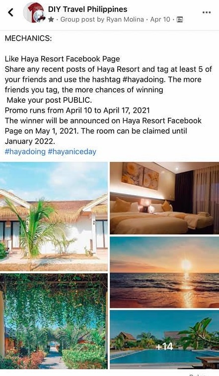 Photo Contest in FB group community
