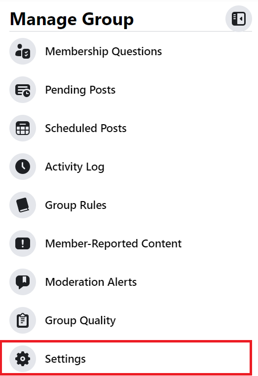 settings description