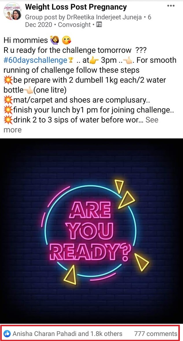 FB Group Contest Suggestion