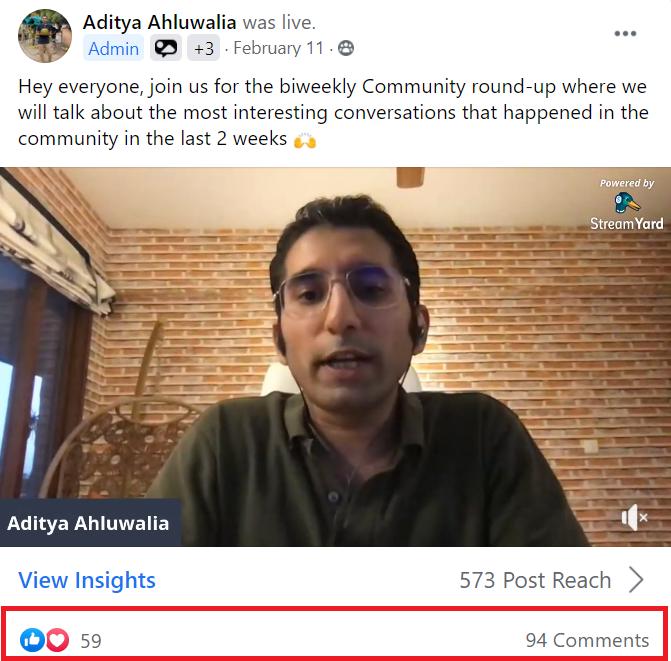 Facebook live idea community roundup