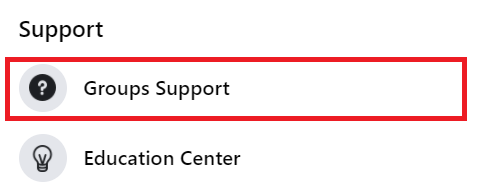 group support in setting