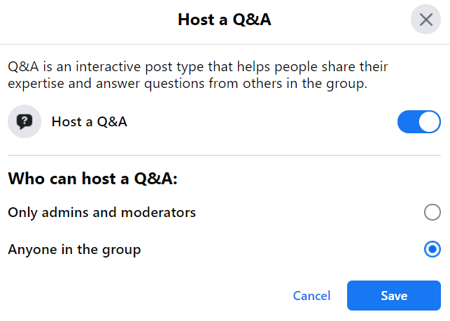 host question and answer