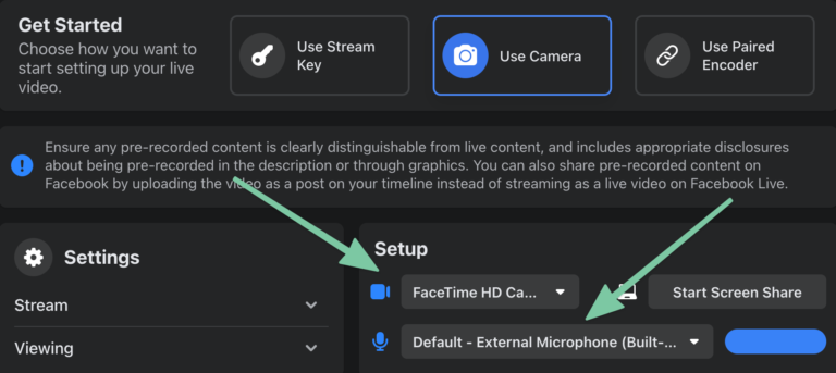 How to Live Stream In A Facebook Group