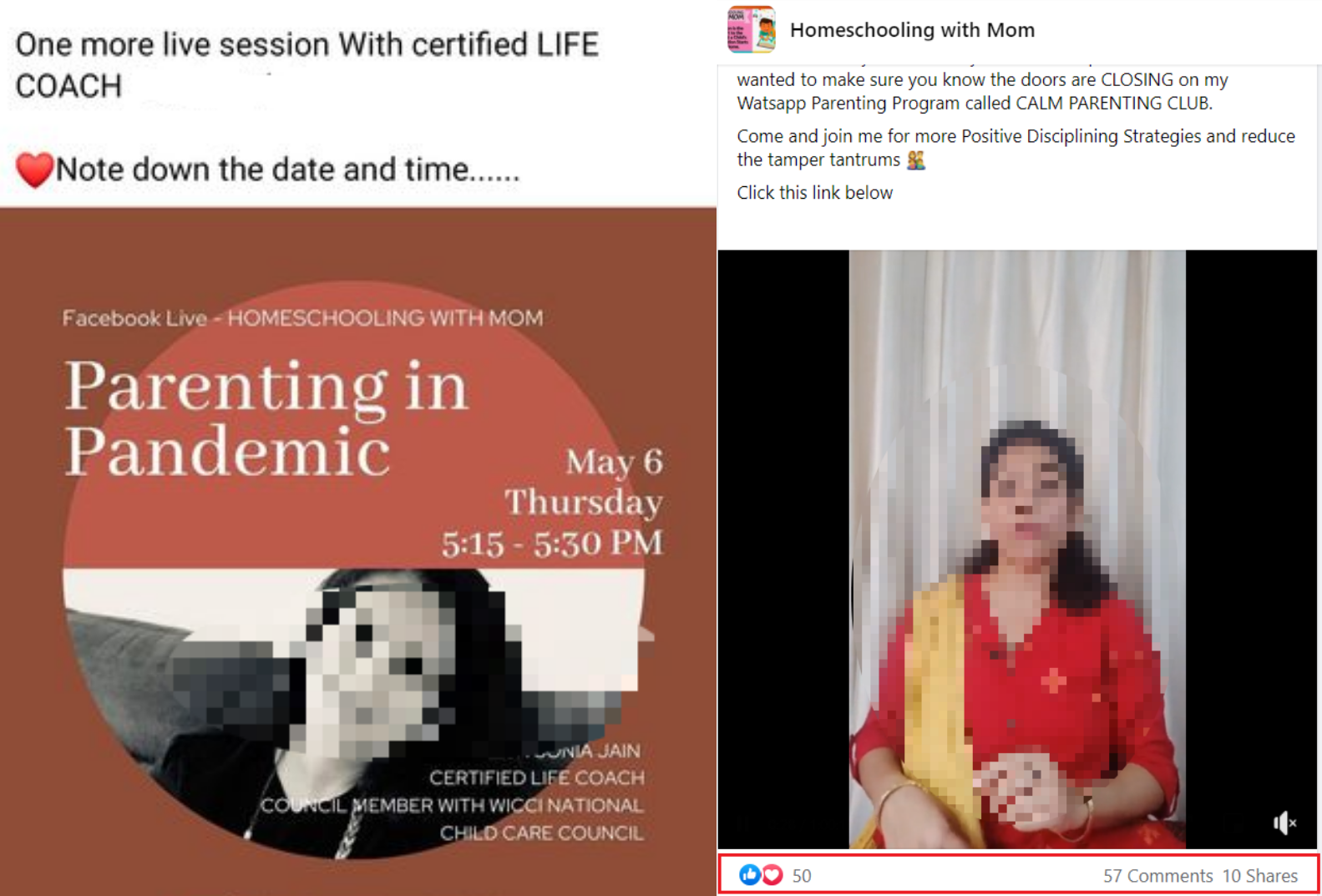 parenting coach live on a fb group