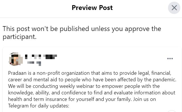 Preview Post in New Public Groups Experience